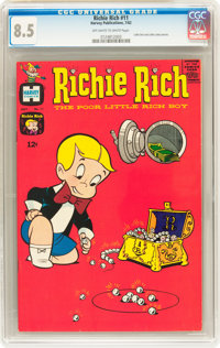 Richie Rich #11 (Harvey, 1962) CGC VF+ 8.5 Off-white to white pages