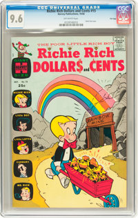 Richie Rich Dollars and Cents #15 File Copy (Harvey, 1966) CGC NM+ 9.6 Off-white pages