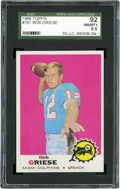 Football Cards:Singles (1960-1969), 1969 Topps Bob Griese #161 SGC 92 NM/MT+ 8.5....