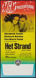 "Movie Posters:Drama, The Sandpiper (MGM, 1965). Swedish Insert (11.75"" X 26""). Drama.. ..."