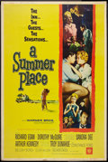 """Movie Posters:Romance, A Summer Place (Warner Brothers, 1959). Poster (40"""" X 60"""") Style Z. Romance.. ..."""