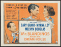 "Movie Posters:Comedy, Mr. Blandings Builds His Dream House (RKO, R-1954). Half Sheet (22"" X 28""). Comedy.. ..."