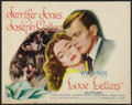 """Movie Posters:Drama, Love Letters (Paramount, 1945). Half Sheet (22"""" X 28"""") Style A. Drama.. ..."""