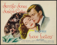 """Love Letters (Paramount, 1945). Half Sheet (22"""" X 28"""") Style A. Drama"""