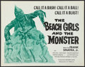 """Movie Posters:Horror, The Beach Girls and the Monster (U.S. Films Inc., 1965). Half Sheet (22"""" X 28""""). Horror.. ..."""