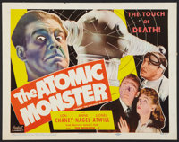 "Man Made Monster (Realart, R-1953). Half Sheet (22"" X 28"") Also Known As ""The Atomic Monster."" Horro..."