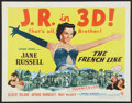 "Movie Posters:Comedy, The French Line (RKO, 1954). Half Sheet (22"" X 28"") 3-D Style A. Comedy.. ..."