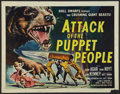"Movie Posters:Science Fiction, Attack of the Puppet People (American International, 1958). Half Sheet (22"" X 28""). Science Fiction.. ..."