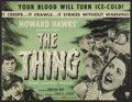 "Movie Posters:Science Fiction, The Thing From Another World (RKO, R-1954). Half Sheet (19.75"" X 25.5""). Science Fiction.. ..."
