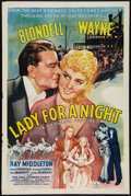 "Movie Posters:Drama, Lady for a Night (Republic, 1942). One Sheet (27"" X 41""). Drama.. ..."