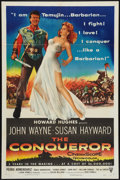 "Movie Posters:Action, The Conqueror (RKO, 1956). One Sheet (27"" X 41""). Action.. ..."