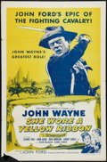"""Movie Posters:Western, She Wore a Yellow Ribbon (RKO, R-1957). One Sheet (27"""" X 41""""). Western.. ..."""
