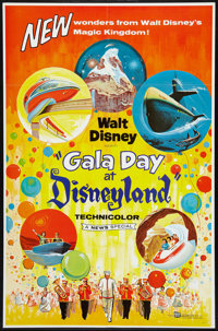 "Gala Day at Disneyland (Buena Vista, 1960). One Sheet (27"" X 41""). Documentary"
