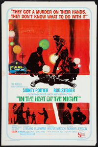 "In the Heat of the Night (United Artists, 1967). One Sheet (27"" X 41""). Drama"