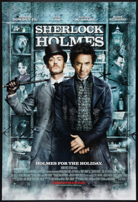 "Sherlock Holmes Lot (Warner Brothers, 2009). One Sheets (2) (27"" X 40"") DS Advance and Regular. Mystery. ... (..."