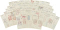 Autographs:Checks, 1945 Brooklyn Brown Dodgers Signed Payroll Checks (55) with OscarCharleston....