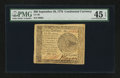 Colonial Notes:Continental Congress Issues, Continental Currency September 26, 1778 $60 PMG Choice ExtremelyFine 45 EPQ.. ...