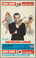 "Movie Posters:James Bond, From Russia with Love (United Artists, R-1970s). Belgian (14"" X23""). James Bond.. ..."