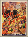 """Movie Posters:Comedy, The Happiest Days of Your Life (British Lion, 1950). Belgian (14"""" X 18""""). Comedy.. ..."""