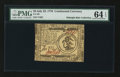Colonial Notes:Continental Congress Issues, Continental Currency July 22, 1776 $3 PMG Choice Uncirculated 64EPQ.. ...