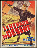 "Movie Posters:War, The Desert Fox (20th Century Fox, 1951). Belgian (14"" X 18.5"").War.. ..."