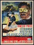 "Movie Posters:Horror, Diary of a Madman (United Artists, 1963). Belgian (14"" X 18.5""). Horror.. ..."