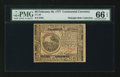Colonial Notes:Continental Congress Issues, Continental Currency February 26, 1777 $6 PMG Gem Uncirculated 66EPQ.. ...
