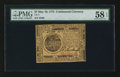 Colonial Notes:Continental Congress Issues, Continental Currency May 10, 1775 $7 PMG Choice About Unc 58 EPQ.....