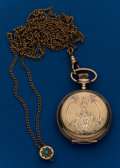 Timepieces:Pocket (post 1900), Waltham Gold Filled O Size with Slide Chain. ...