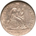 Seated Dimes, 1861-S 10C MS61 NGC....