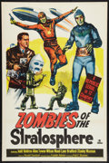 "Movie Posters:Serial, Zombies of the Stratosphere (Republic, 1952). One Sheet (27"" X 41""). Serial.. ..."
