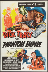 "Dick Tracy vs. the Phantom Empire (Republic, R-1952). One Sheet (27"" X 41""). Serial"