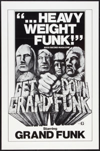 """Get Down Grand Funk (Craddock Films, 1970). One Sheet (27"""" X 41""""). Rock and Roll"""