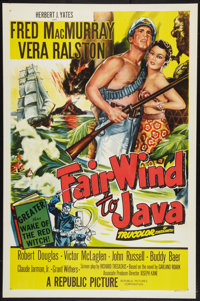 "Fair Wind to Java (Republic, 1953). One Sheet (27"" X 41""). Adventure"