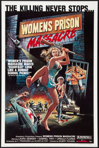 "Women's Prison Massacre (Unistar, 1984). One Sheet (27"" X 41""). Exploitation"