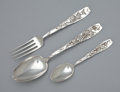 Silver Flatware, American:Whiting, AN EIGHTEEN PIECE AMERICAN SILVER FLATWARE SERVICE . WhitingManufacturing Co., New York, New York, circa 1880. Marks: (grif...(Total: 18 Items)