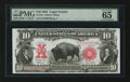 Large Size:Legal Tender Notes, Fr. 121 $10 1901 Legal Tender PMG Gem Uncirculated 65 EPQ.. ...