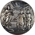 Russia, Russia: Nicholas II silver Medal for the Laying of the Cornerstoneof the Alexander III Memorial in Paris in 1900,...