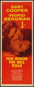 """Movie Posters:Drama, For Whom the Bell Tolls Lot (Paramount, R-1957). Inserts (2) (14"""" X 36""""). Drama.. ... (Total: 2 Items)"""