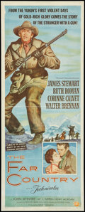 "Movie Posters:Western, The Far Country (Universal International, 1955). Insert (14"" X 36""). Western.. ..."