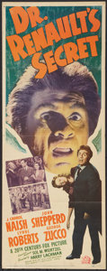 "Movie Posters:Horror, Dr. Renault's Secret (20th Century Fox, 1942). Insert (14"" X 36""). Horror.. ..."