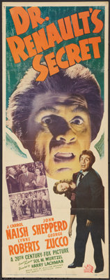 "Dr. Renault's Secret (20th Century Fox, 1942). Insert (14"" X 36""). Horror"