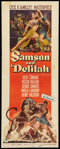 "Movie Posters:Adventure, Samson and Delilah (Paramount, 1949). Insert (14"" X 36""). Adventure.. ..."