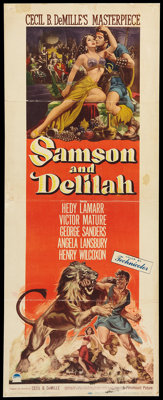 "Samson and Delilah (Paramount, 1949). Insert (14"" X 36""). Adventure"