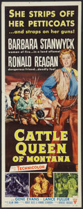"Movie Posters:Western, Cattle Queen of Montana (RKO, 1954). Insert (14"" X 36""). Western.. ..."