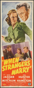 "Movie Posters:Film Noir, When Strangers Marry (Monogram, 1944). Insert (14"" X 36""). Film Noir.. ..."