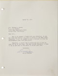 Music Memorabilia:Autographs and Signed Items, Elvis Presley Signed Letter to Colonel Parker (1971)....