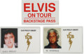 Music Memorabilia:Memorabilia, Elvis Presley Backstage Badges.... (Total: 3 )