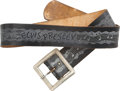 Music Memorabilia:Memorabilia, Elvis Presley Vintage Leather Belt....
