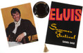 Music Memorabilia:Memorabilia, Elvis Presley Vintage Las Vegas Hotel Menus and Ashtray.... (Total:3 )